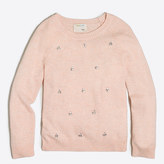 J.Crew Factory Girls' jeweled clusters popover sweater
