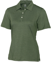 Cutter & Buck Olive Green DryTec Resolute Supima-Blend Polo