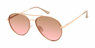 Nanette Nanette Lepore Nanette by Nanette Lepore Women's NN298 Patterned Aviator Sunglasses with 100% UV Protection