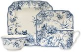 222 Fifth Adelaide 16-Piece Square Dinnerware Set in Blue