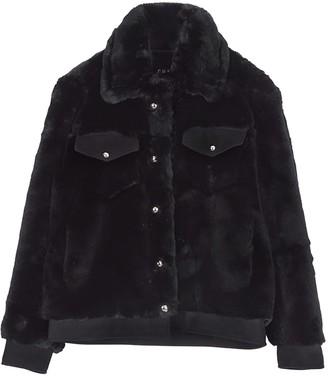 Chaenewyork Rami Faux Fur Jacket Black