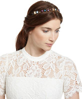 Jennifer Behr Golden Brass Swarovski® Tiara, Multicolor