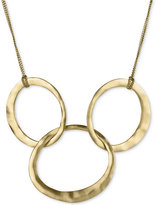 Kenneth Cole New York Gold-Tone Linked Circle Statement Necklace