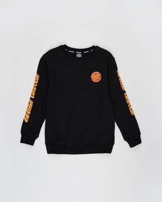 Santa Cruz MFG Dot Crew Fleece Sweater - Teens
