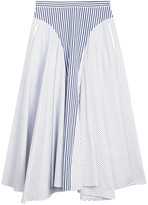 ADAM by Adam Lippes Striped Cotton Poplin Skirt