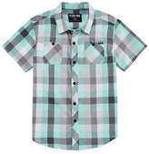 Arizona Short Sleeve Button-Front Shirt Boys Husky