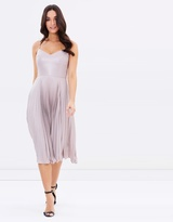 Warehouse Lame Pleated Dress
