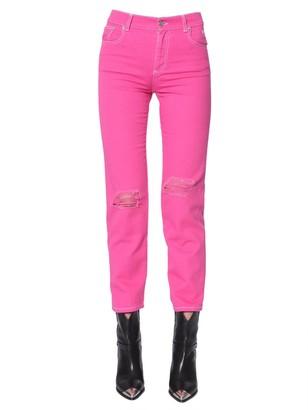 MSGM Slim Fit Ripped Jeans