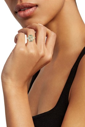 Effy 14K Yellow Gold, Green Amethyst & Diamond Ring