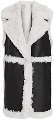 Yves Salomon Reversible Shearling Longline Vest