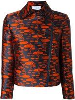 Akris zipped printed jacket