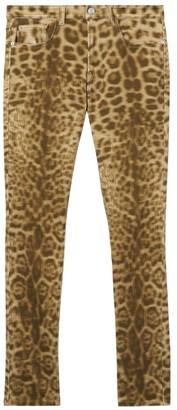 Burberry Joline Leopard-Print Slim Jeans