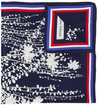 Balmain Pre-Owned Floral Print Scarf