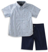 Tommy Hilfiger Striped Logo Shirt and Twill Shorts Set