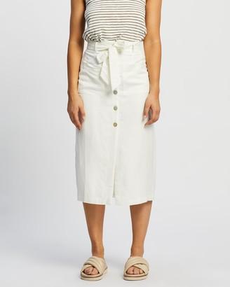 Staple the Label - Women's White Midi Skirts - Ava Midi Skirt - Size 8 at The Iconic