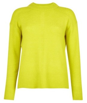 Dorothy Perkins Womens Lime Spandex Step Hem Jumper