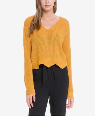 Endless Rose Knit Crop Top with Frayed Hem