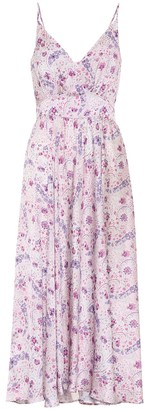 Paco Rabanne Exclusive to Mytheresa Floral satin dress