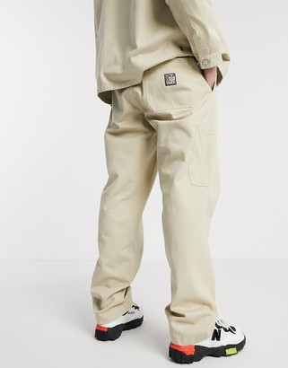 Obey Marshal utility pant in stone
