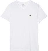 Lacoste Men's Short Sleeve Pima Jersey V-Neck T-Shirt