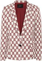 Malone crepe-jacquard blazer