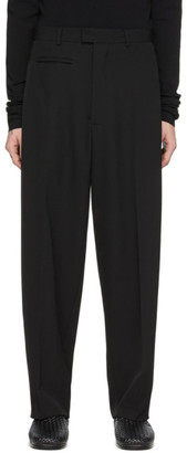 Bottega Veneta Black Wool Gabardine Trousers