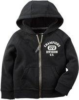 Carter's Zip Front Hoodie (Toddler/Kid) - Black - 5T