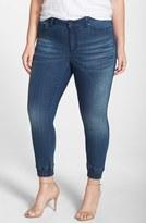 Justice Plus Size Women's Poetic 'Suzzie' Stretch Knit Denim Crop Jeans