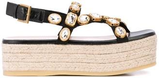 Gucci Crystal Embellished Platform Sandals