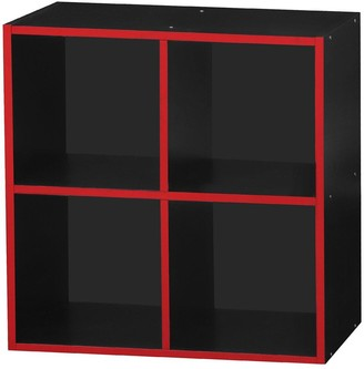 Lloyd Pascal Virtuoso 4 Cube Storage with Red Edging