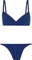 Lisa Marie Fernandez Yasmin Seersucker Bikini - Storm blue