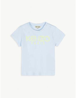 Kenzo Cotton logo print T-shirt 6-36 months
