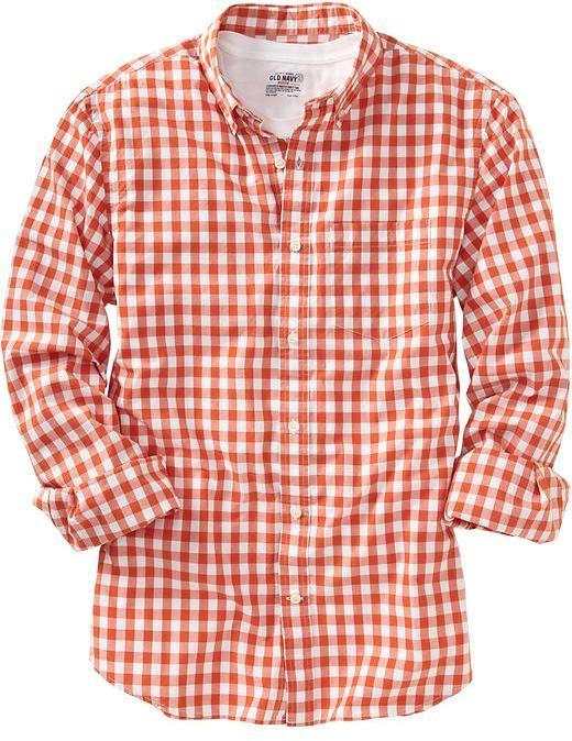 Old Navy Men's Slim-Fit Gingham Shirts
