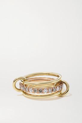 Spinelli Kilcollin Sonny Max Set Of Three 18-karat Yellow And Rose Gold Diamond Rings - 7