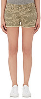 Current/Elliott Women's The BoyfriendTM Camouflage Denim Cutoff Shorts