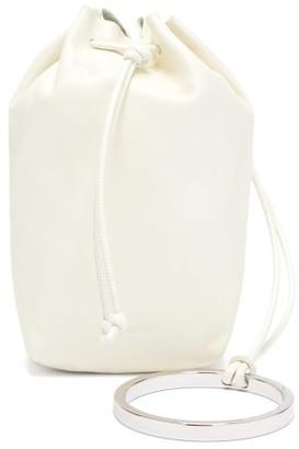 Jil Sander Bracelet Mini Leather Drawstring Bag - Womens - Cream