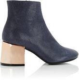 MM6 MAISON MARGIELA Women's Mirrored-Heel Ankle Boots-BLUE