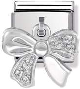 Nomination Stainless Steel, Silver & Cubic Zirconia Bow Classic Charm 031710/27