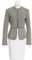 Alexander Wang Leather-Trimmed Tweed Jacket w/ Tags