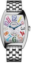 Franck Muller Cintree Curvex Bracelet Watch with Multicolor Hour Markers
