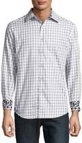 Robert Graham Men's Microcar Printed Cotton Casual Button-Down Shirt