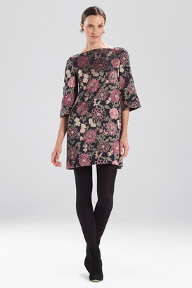 Natori Edo Floral Jacquard Dress