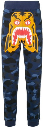 A Bathing Ape Camouflage Tiger track pants
