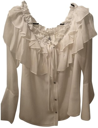 Opening Ceremony White Silk Top for Women