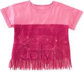 Calvin Klein Fringe Graphic-Print T-Shirt, Big Girls (7-16)