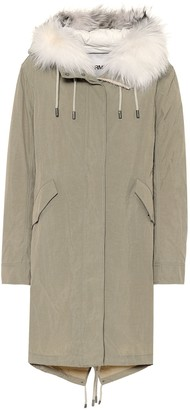 Yves Salomon Army fur-trimmed down parka