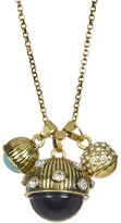 Jessica Simpson Stone & Crystal Three Ball Pendant Necklace