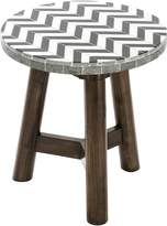Vienna Woods Outdoor Coffee & Side Tables Outdoor Side Table, Chevron