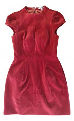 Carven Red Velvet Dresses