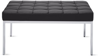 Design Within Reach Florence Knoll Two-Seater Bench in Leather